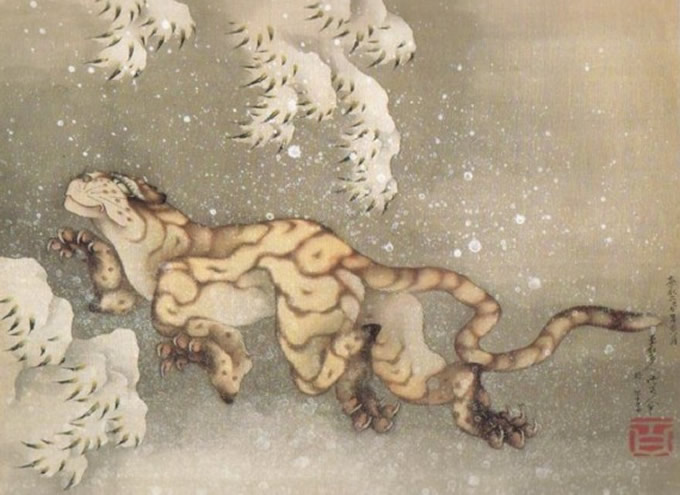 Hokusai Old Tiger